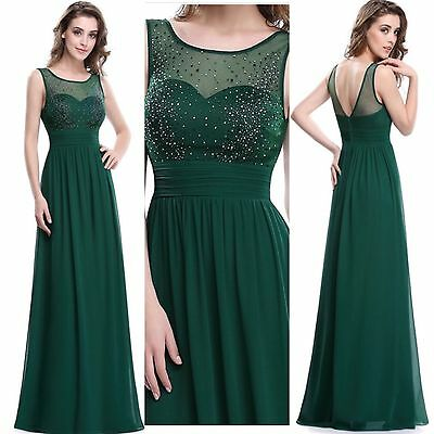 Evening Party Dress Long Prom Formal Cocktail Bridesmaid Dresses Gown Ball UK