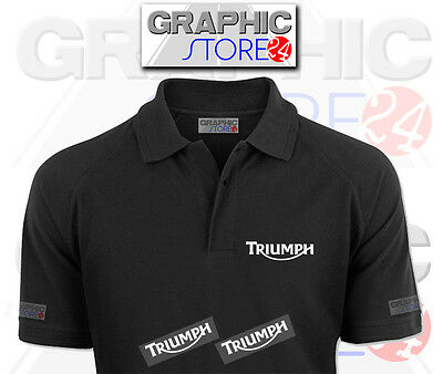 2x TRIUMPH Iron on Clothing Decals