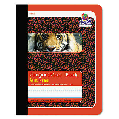 Composition Book, 5/8'' Ruling, 9-3/4 x 7-1/2, 100 Sheets