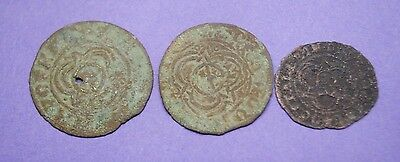 Group of three 16th-17th century tokens