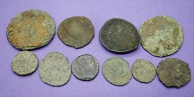 Group of 10 ancient Roman and Byzantine coins