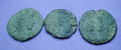 Group of 3 Roman bronze coins