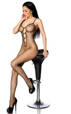 SeXy Catsuit mit Herzelementen Body Overall Dessous Gr. XS/L 34 36 38 40 **AT543