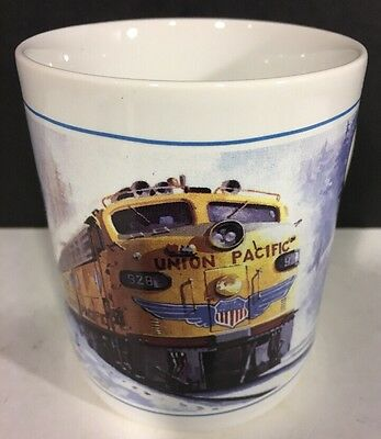 Mug Union Pacific Streamliner 1950  R E Pierce Winter Scene Railroad Locomotive