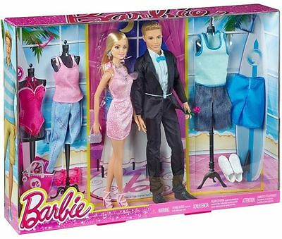 BARBIE and KEN Fashion Pack Clothes Accessories - New and Sealed