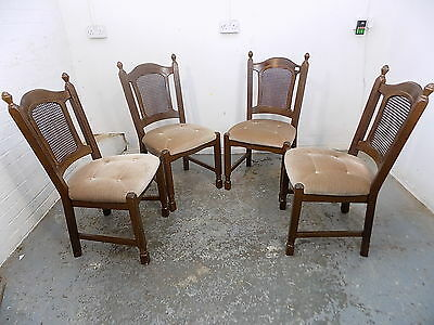 four,berger,dining chairs,upholstered chairs,wicker backs,wood frames,chairs