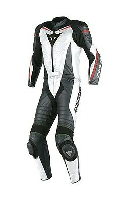 Leather Suit 2 Pieces Dainese Laguna Seca D1 White Size 54