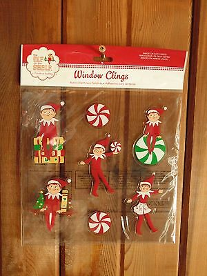 7 Piece Package of Elf on the Shelf BRAND NEW Window Clings Christmas Decoration