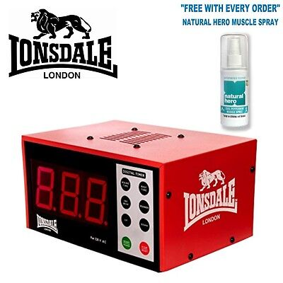 Lonsdale Boxing Clock Electronic Programmable Gym Interval Timer Countdown