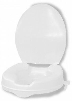 Vitility Raised Toilet Seat With Lid 10cm Height