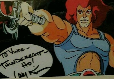 Larry Kenney, Lion-O, Thundercats 6x4 card signed authentic!!!