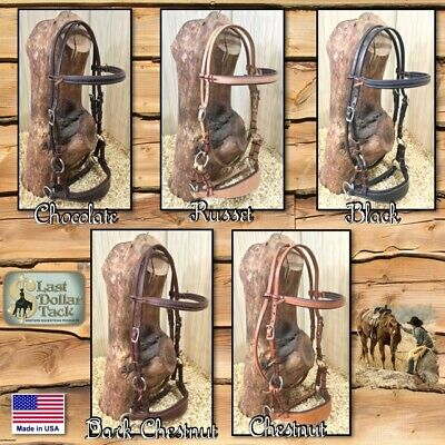 Comfort Bitless Headstall Bridle ~ Premium Soft Padded Leather ~ 5 Colours