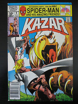 KA-ZAR (1981 Series) #9 VG Marvel Comics (C0110)
