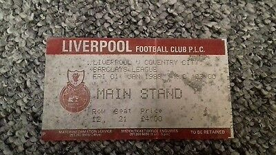 83) Liverpool v Coventry City  ticket stub main stand