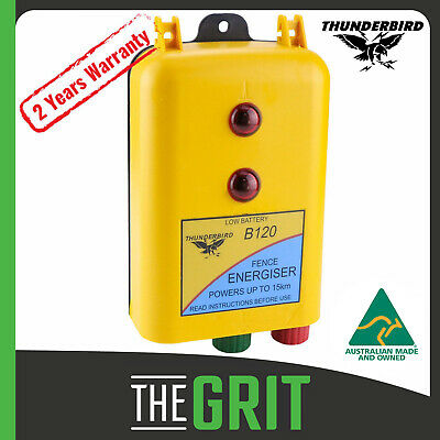 Thunderbird B120 15km 12 Volt Battery Powered Electric Fence Energiser Energizer