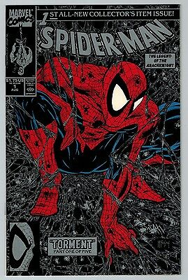 Spider-Man #1 (Aug 1990, Marvel) (C6278) Classic McFarlane Silver Cover