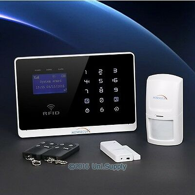 HOMSECUR Wireless&Wired GSM Home Security Burglar Alarm System+IOS/ Android App