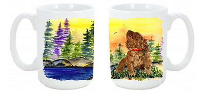 American Water Spaniel Dishwasher Safe Microwavable Ceramic Coffee Mug 15 ounce