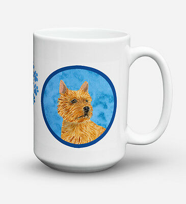 Norwich Terrier  Dishwasher Safe Microwavable Ceramic Coffee Mug 15 ounce SS4775