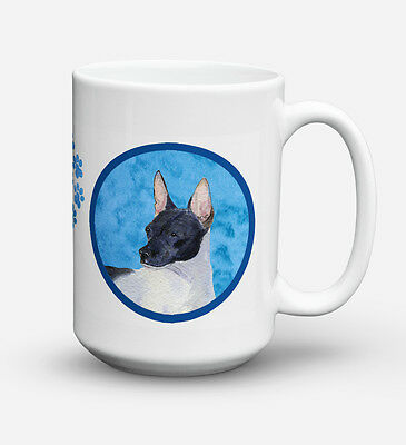 Rat Terrier  Dishwasher Safe Microwavable Ceramic Coffee Mug 15 ounce SS4756