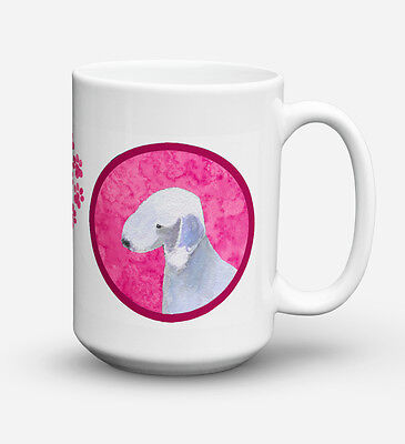 Bedlington Terrier  Dishwasher Safe Microwavable Ceramic Coffee Mug 15 ounce SS4