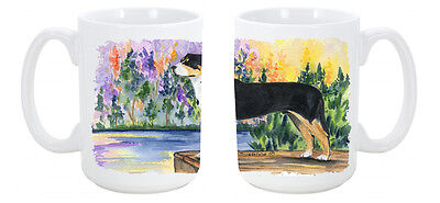 Greater Swiss Mountain Dog Dishwasher Safe Microwavable Ceramic Coffee Mug 15 ou