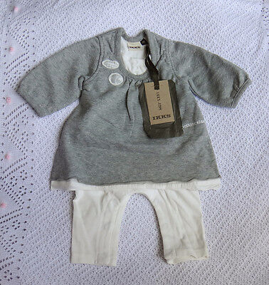 New With Tags IKKS  Baby Girls Winter Grey Coveralls / All-In-One / Outfit @9M