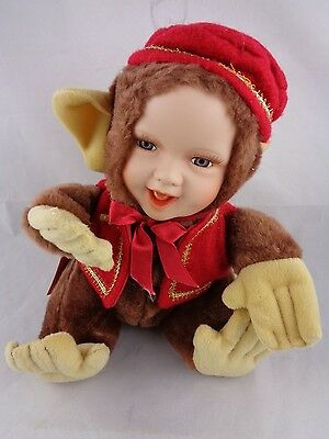 Show-Stoppers Babes The Wild Porcelain Face Plush Doll Animals GIGGLES Monkey