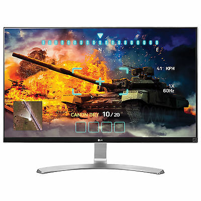 "LG 27UD68-W 27"" LED LCD Computer Monitor UHD 4K 3840x2160 HDMI DP FreeSync IPS"
