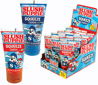 Slush Puppy Squeeze Candy Children's Favor Candy - Cherry or Blue Raspberry