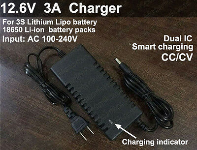 2Pcs 12.6V 4A Intelligent Smart Charger for 11.1V 10.8V Li-Ion Li-Po Battery UST