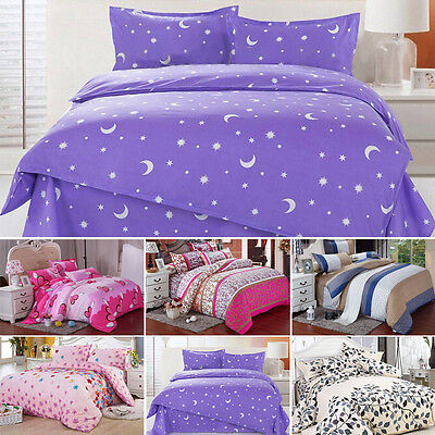 Duvet Cover with Pillow Case Quilt Cover Bedding Set Single Double King Size