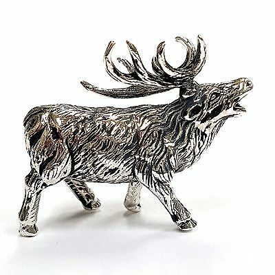 Collectable Quality Victorian Style Stag Figurine 925 Sterling Silver Hallmarked