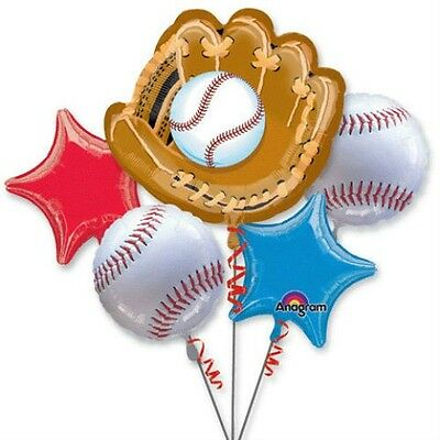 Baseball Birthday Party Balloons Bouquet Supplies Decorations Sports