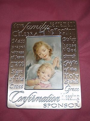 Brand new religious sacrament Confirmation silver photo frame in EC