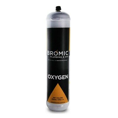 Replacement Disposable Oxygen Cylinder O2 Oxy 1 Litre M12 Fitting Un 1072 Oxy005