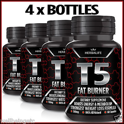 240 T5 Fat Burner Capsules 100% Strongest Legal Slimming Diet Pills Weight Loss