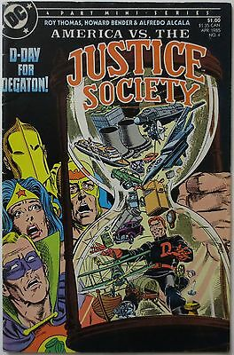 America vs. the Justice Society #4 (Apr 1985, DC) Mine Series (C1762)