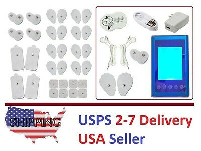 TENS Unit 9 Modes Digital Electronic Pulse Massager Therapy TENS Dual Channel I