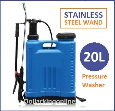 20L Pressure Backpack Water Sprayer Stainless Steel Garden Chemical Weeds Killer