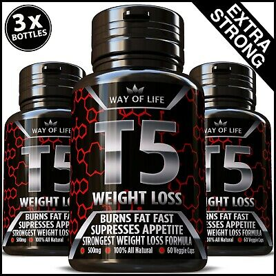 120 T5 Fat Burner Capsules 100% Strongest Legal Slimming Diet Pills Weight Loss