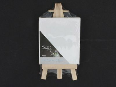 48 x Artist canvas mini & easel  7cm high elegant wedding table place settings