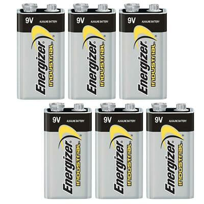 6x Genuine Energizer 6LR61 Industrial Battery 9V Alkaline Batteries