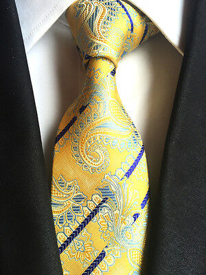 Details about  /149KT NEW classic men 100/% silk neck tie green purple paisley wedding party ties