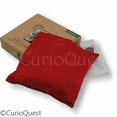 "The Original Cherry Stone 10"" Square Pillow Microwavable Heat Pack Cushion"