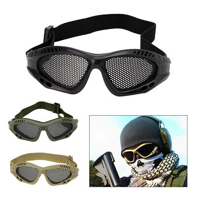 Tactical Airsoft Eye Protection Goggles Anti Motorcycle Fog Metal Mesh Glasses