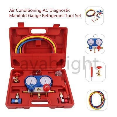 R-134A Air Conditioning AC Diagnostic Manifold Gauge Refrigerant Tool Set UK