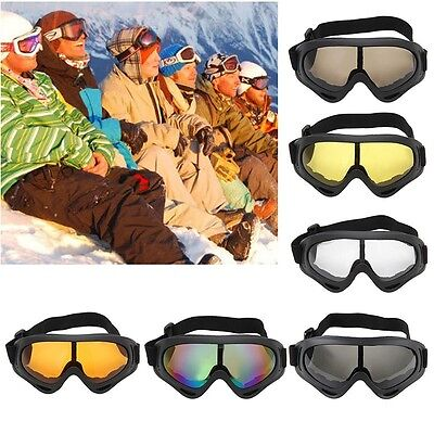 UV400 Winter Outdoor Ski Airsoft Protective Glasses Eyewear Motorcycle Goggles