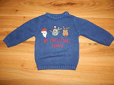 NEXT boys Christmas jumper 9-12 months *I'll combine postage