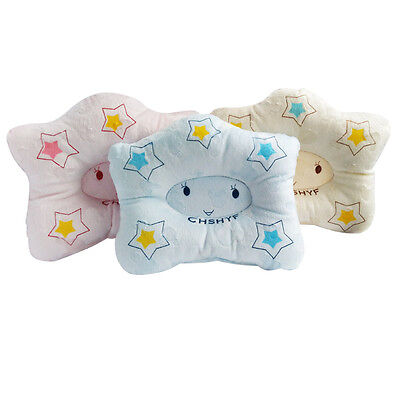 1pc Soft Baby Star Pillow Newborns Infant Support Cushion Pad Prevent Flat Head